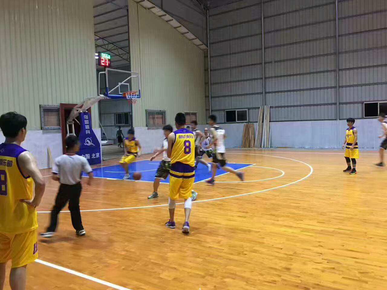 欧氏木业承接的江西赣州黄金联谊球馆开业!