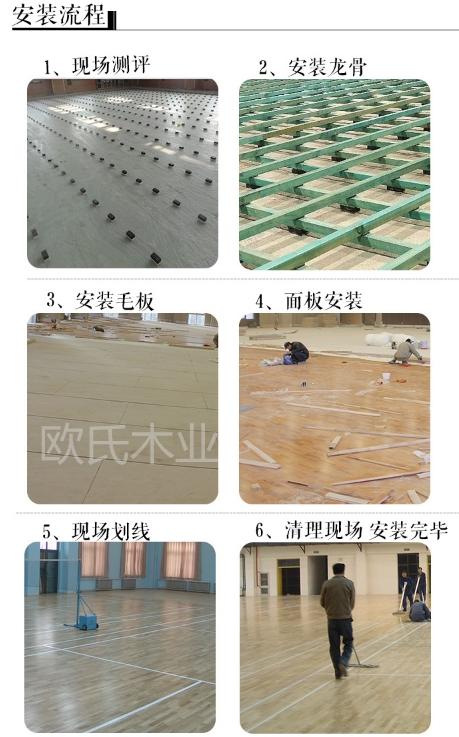 欧氏木业体育馆木地板施工图