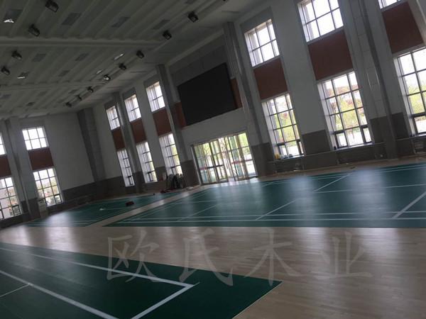 宁夏银川消防总队培训基地室内体育馆运动木地板案例