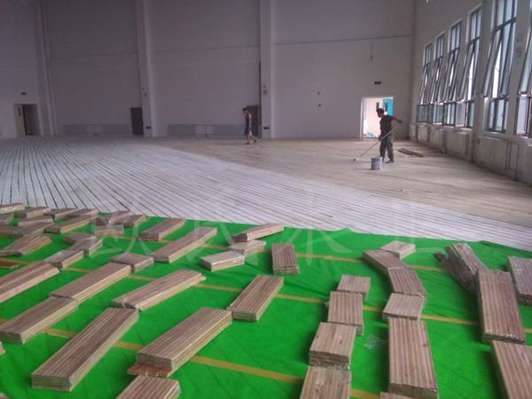 甘肃省金昌第五中学体育馆运动木地板项目