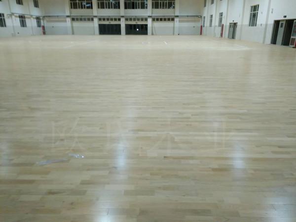 山东德州临邑首要中学体育馆木地板项目案例